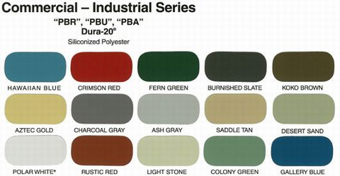 Commercial Color Chart